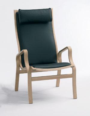 Lænestol træ læder
